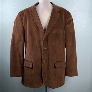 Club Room Brown Corduroy Lined Blazer New 32PE
